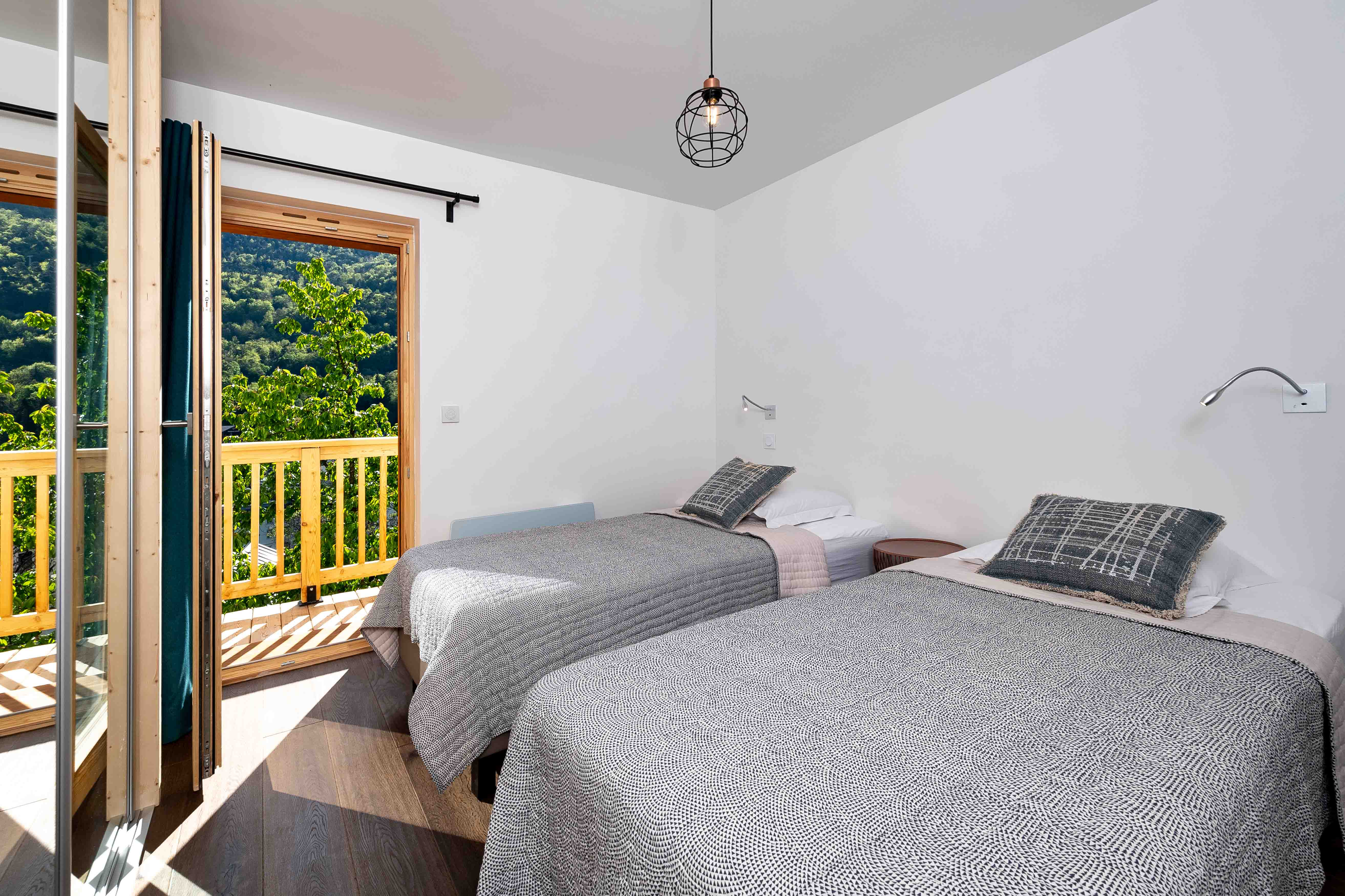 chambre lits simples appartement thomas